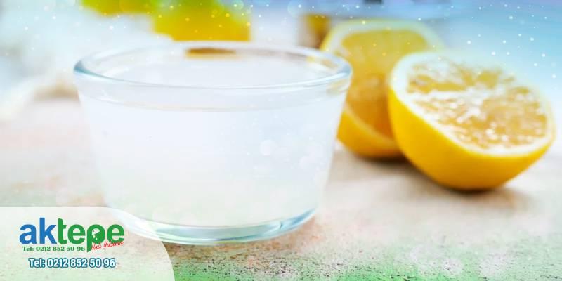 Halı için limonlu durulama kullanın